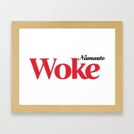 Namaste Woke Framed Art Print