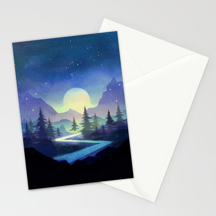 Touching the Stars Stationery Cards