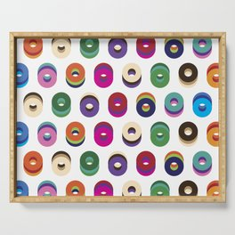 Colorful Bagels Serving Tray