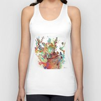 archan nair Tank Tops featuring Anemones Blooming by Archan Nair