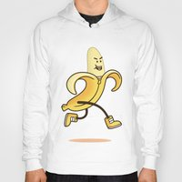 banana Hoodies featuring Banana by Alby Letoy