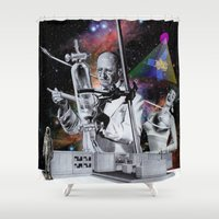 science Shower Curtains featuring Weird Science by TRASH RIOT