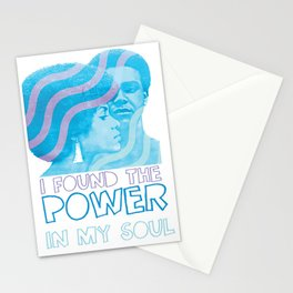 I Found The Power In My Soul Blue Stationery Cards