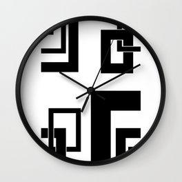 4.1 - frames - black and white Wall Clock