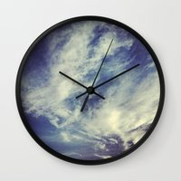 mexican Wall Clocks featuring Mexican sky by OPPhotos - where poetry meets photos