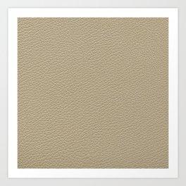 Beige Leather Texture Art Print