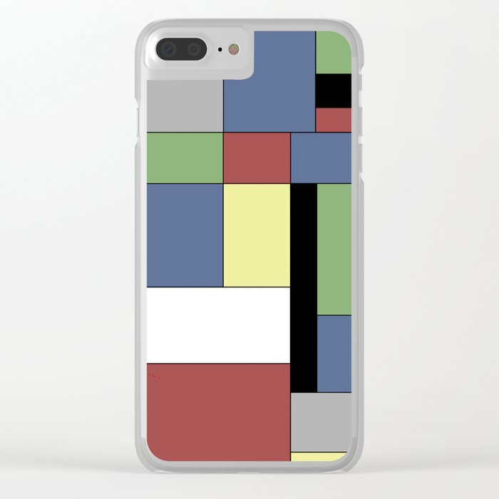 Mondrian #5 Clear iPhone Case