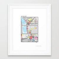 power rangers Framed Art Prints featuring Pow Pow Power Rangers by Bluh