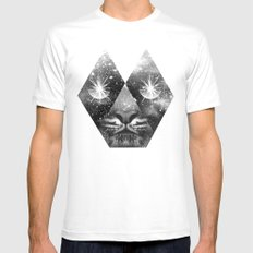 cosmic tiger Mens Fitted Tee MEDIUM White