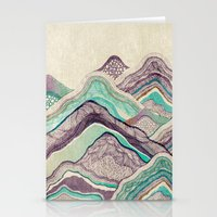 minerals Stationery Cards featuring Hillside by rskinner1122