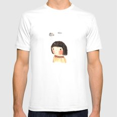Rain on me White SMALL Mens Fitted Tee