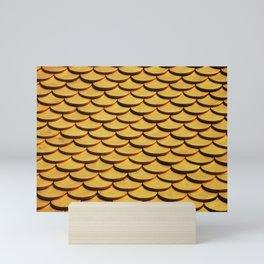 Gold Scales Pattern Mini Art Print