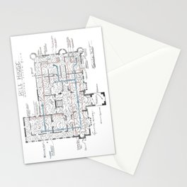 Haunting of Hill House Blueprint Stationery Cards