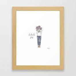 Inhale joy Framed Art Print