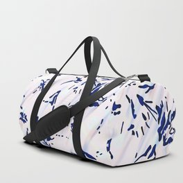 Blue Splatter Painting Pattern Duffle Bag