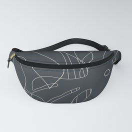 Monstera No2 Black Edition Fanny Pack