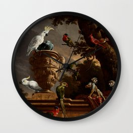 """Melchior d'Hondecoeter """"The Menagerie"""" Wall Clock"""