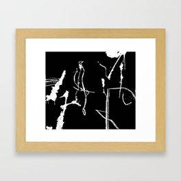 Asemic Graphic Framed Art Print