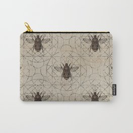 Bumble Bee  on sacred geometry pattern Carry-All Pouch