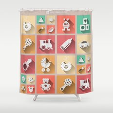 Baby Windows 8.1 Shower Curtain