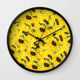 sunflower pattern 2018 1 Wall Clock