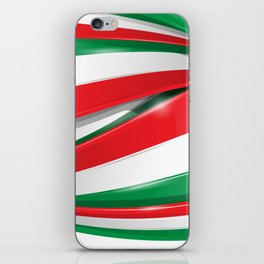 Italian and mexican flag iPhone Skin