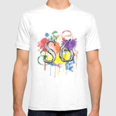 S6 Tee MEDIUM Mens Fitted Tee White