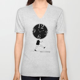 Time is Running Unisex V-Neck