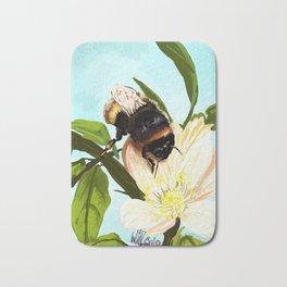 Bee on flower 4 Bath Mat