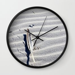 Solitary Feather Wall Clock
