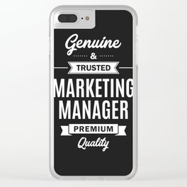Marketing Manager Clear iPhone Case