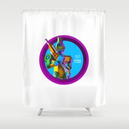 Empire of Code - punk Shower Curtain