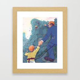 A Meaningful Job. Framed Art Print