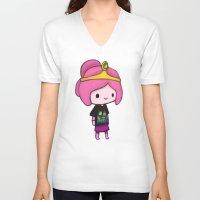 princess bubblegum V-neck T-shirts featuring Bubblegum Princess by Kam-Fox