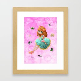 Wagashi saisonniers - Seasonal wagashi Framed Art Print