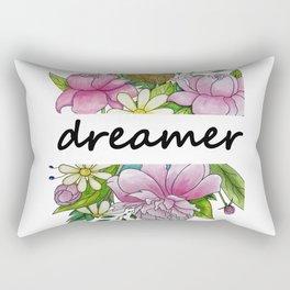 dreamer . flowers and the words . illustration Rectangular Pillow