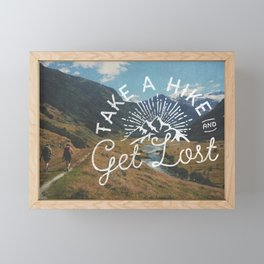 TAKE A HIKE Framed Mini Art Print