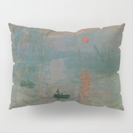 Impression, Sunrise, Claude Monet Pillow Sham