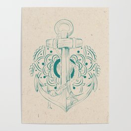 Anchor mandala Poster
