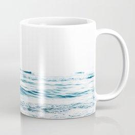 Water, Sea, Ocean, Water, Blue, Nature, Modern art, Art, Minimal, Wall art Coffee Mug