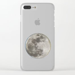 moon,planets,cosmos Clear iPhone Case