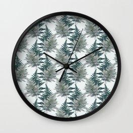 Forest Ferns Wall Clock