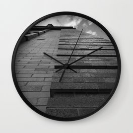 Vertical Brick Wall Architectural Photographic Print Wall Clock