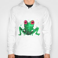 frog Hoodies featuring Frog by Bwiselizzy