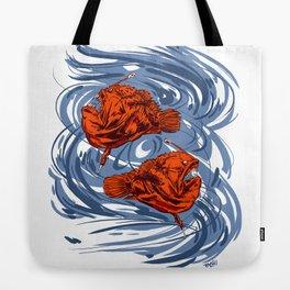Angler Fish and Crescent Moon Tote Bag