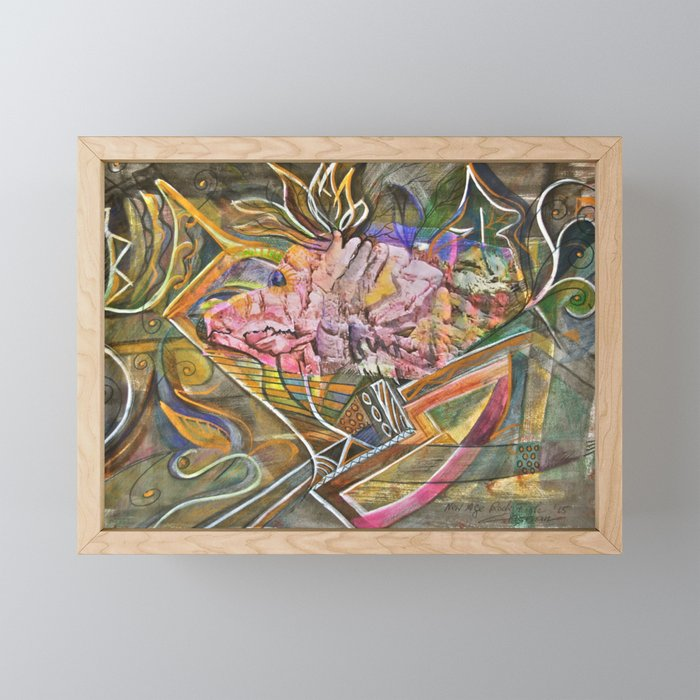 Rocky Abstract Framed Mini Art Print