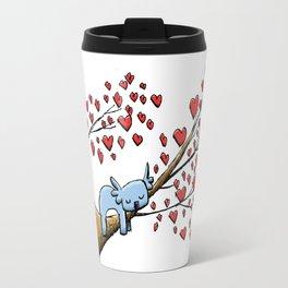 Cute Koala in Tree of Hearts Travel Mug