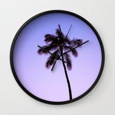 palm tree ver.violet Wall Clock