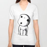 kodama V-neck T-shirts featuring KODAMA by lucidesu