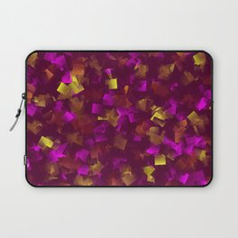 collage purple,gold, colored tiles from little shady Laptop Sleeve
